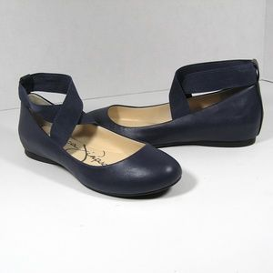 JESSICA SIMPSON Ballet Flats NAVY BLUE Size 6